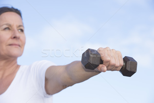 Confident healthy fit mature woman outdoor Stock photo © roboriginal
