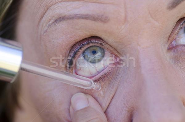 Detail eye and pipette liquid drop medicine Stock photo © roboriginal