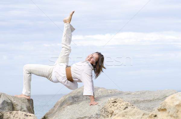 Feliz alegre mujer activo Foto stock © roboriginal