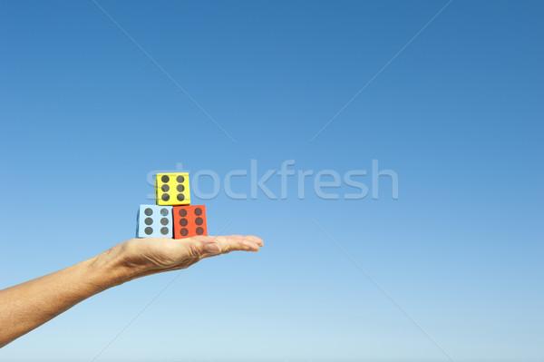 手 空 孤立した 青 再生 ゲーム ストックフォト © roboriginal