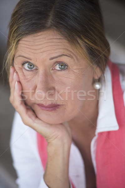 Lonely concerned mature woman portrait Stock photo © roboriginal
