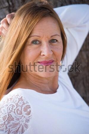 Portrait happy elegant mature woman Stock photo © roboriginal