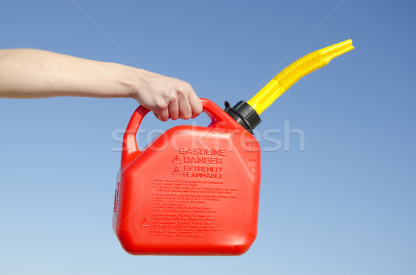 Gasoline can sky background Stock photo © roboriginal