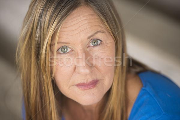 Confident attractive lady woman portrait Stock photo © roboriginal