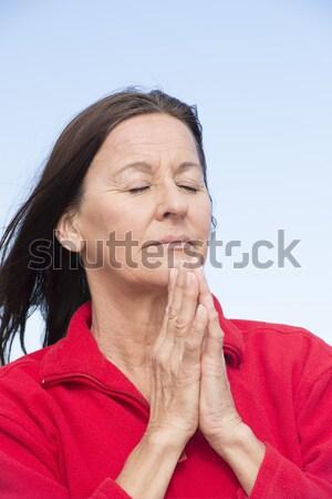 Mulher dor dor de dente retrato atraente mulher madura Foto stock © roboriginal