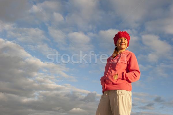 肖像 魅力的な 成熟した女性 日の出 美しい 見える ストックフォト © roboriginal