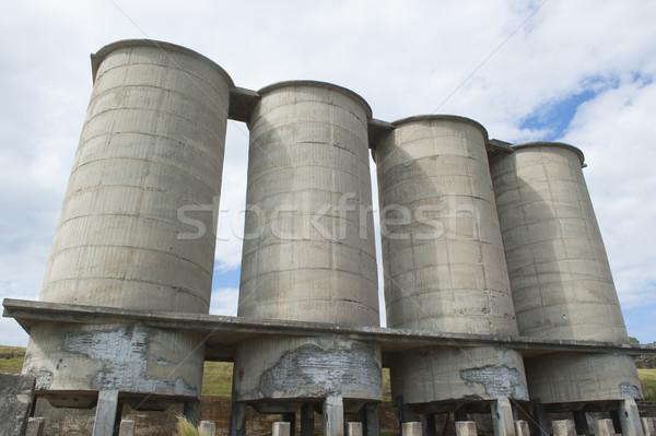 Vieux ciment île tasmanie abandonné industrielle Photo stock © roboriginal