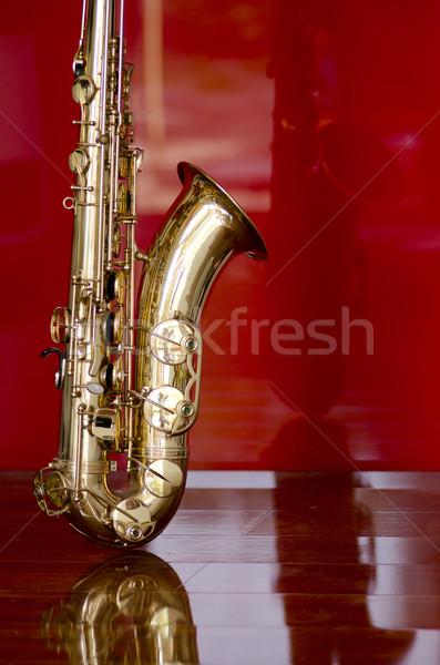 Saxophone brass music instrument Stock photo © roboriginal