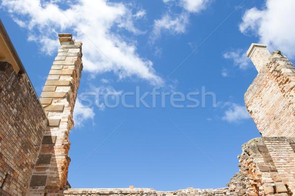 Harabe liman mahkum müze tazmanya dünya Stok fotoğraf © roboriginal
