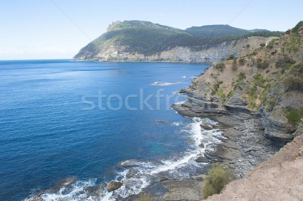 острове Австралия крутой утес побережье горные Сток-фото © roboriginal