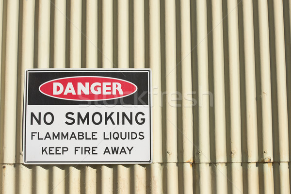 Danger no smoking or open fire sign Stock photo © roboriginal