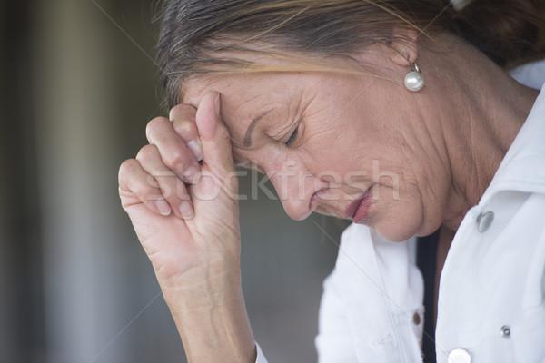 孤独 落ち込んで 成熟した女性 肖像 悲しい ストックフォト © roboriginal