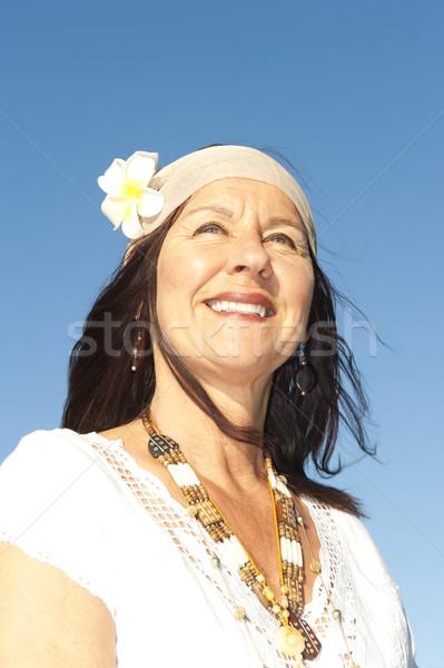 肖像 成熟した ヒッピー 女性 魅力的な 幸せ ストックフォト © roboriginal