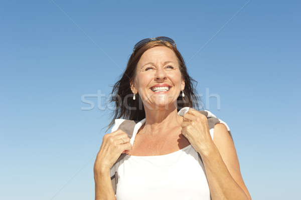 Beautiful mature woman active reitrement Stock photo © roboriginal