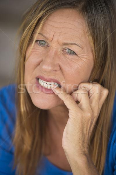 женщину нервный пальца ногти Сток-фото © roboriginal
