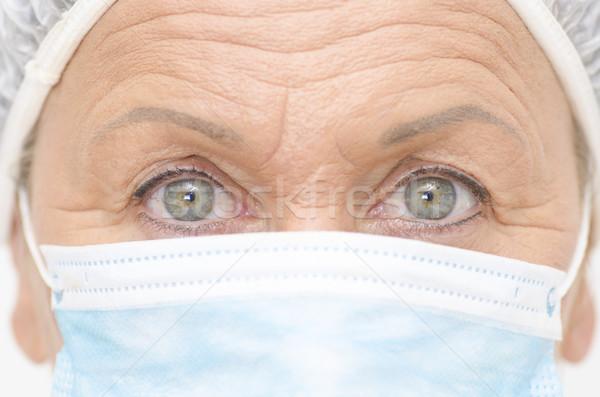 Ojos hospital enfermera retrato médicos Foto stock © roboriginal