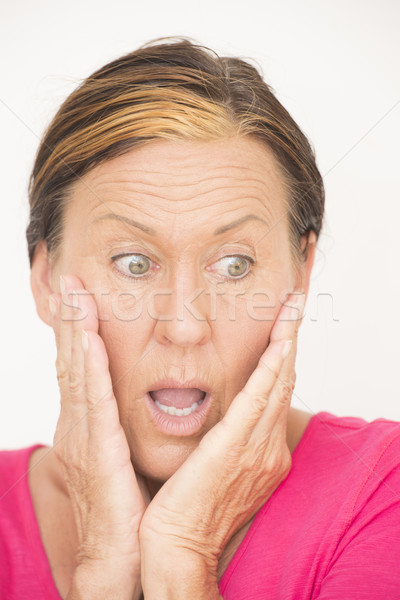 Shocked and worried woman Stock photo © roboriginal