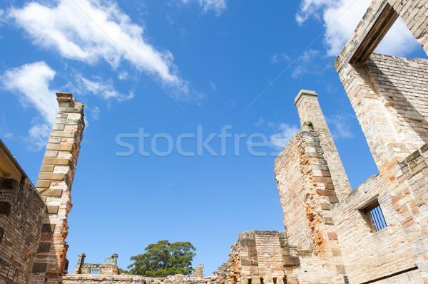 Ruin Port Arthur Convict Settlement Tasmania Stock photo © roboriginal