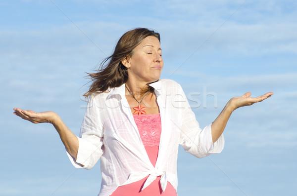 Ignorant, unaware woman gesturing isolated Stock photo © roboriginal
