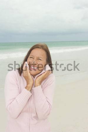 ストックフォト: 肖像 · 幸せ · 魅力的な · 成熟した女性
