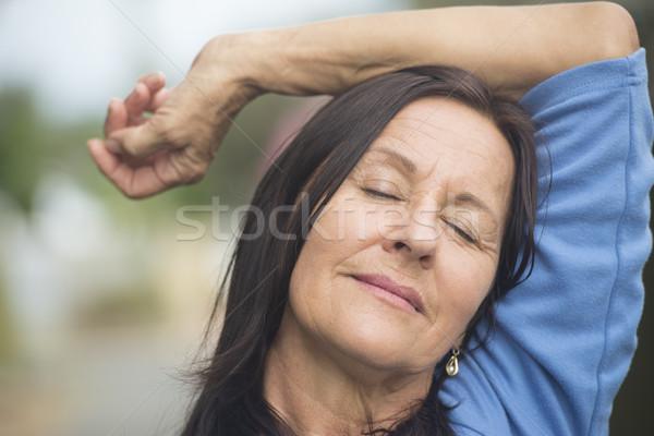 幸せ 成熟した女性 屋外 肖像 魅力的な ストックフォト © roboriginal
