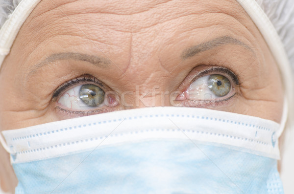 Eyes close up medical nurse Stock photo © roboriginal