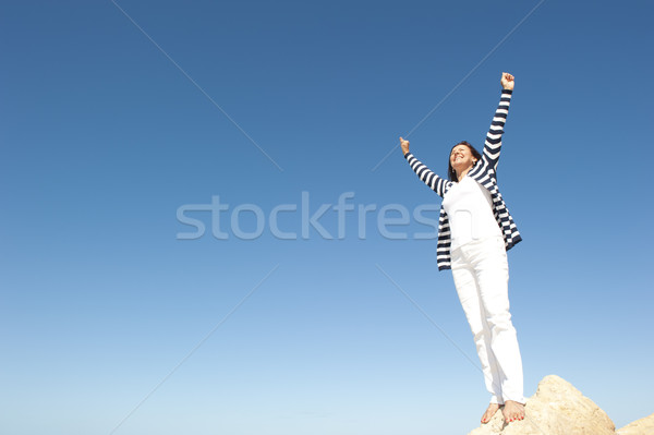 Woman Happy Active retirement Stock photo © roboriginal