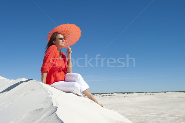 Attractive mature woman in outback Australia Stock photo © roboriginal