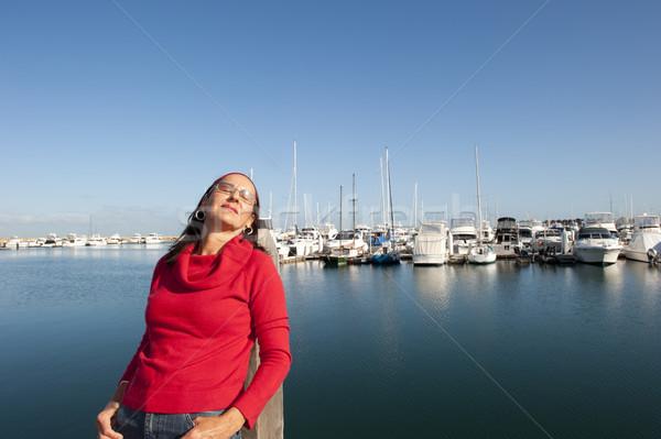 幸せ 成熟した女性 屋外 魅力的な 見える ストックフォト © roboriginal
