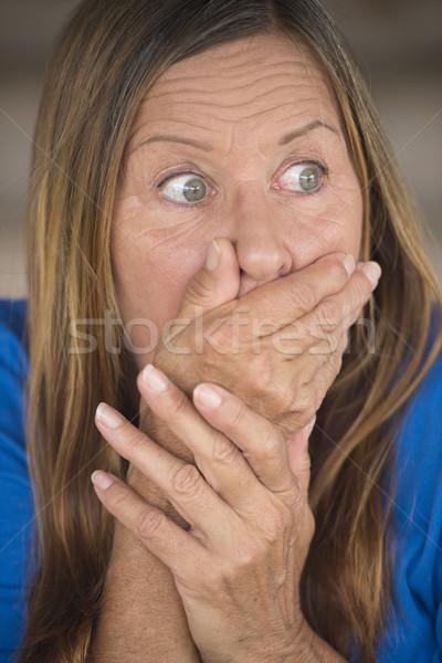 Fearful upset shocked woman portrait Stock photo © roboriginal