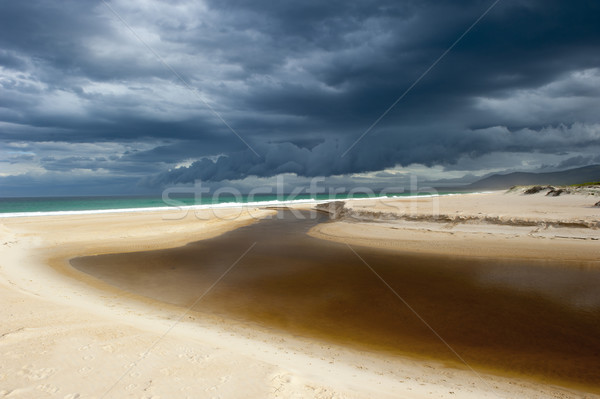Wild weather storm formation ocean beach Stock photo © roboriginal