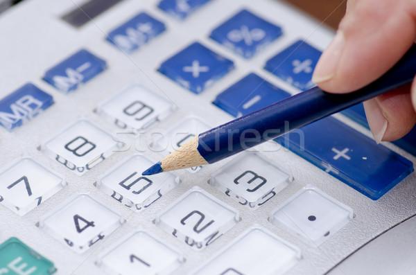 電卓 ペン 会計士 番号 詳しい クローズアップ ストックフォト © roboriginal