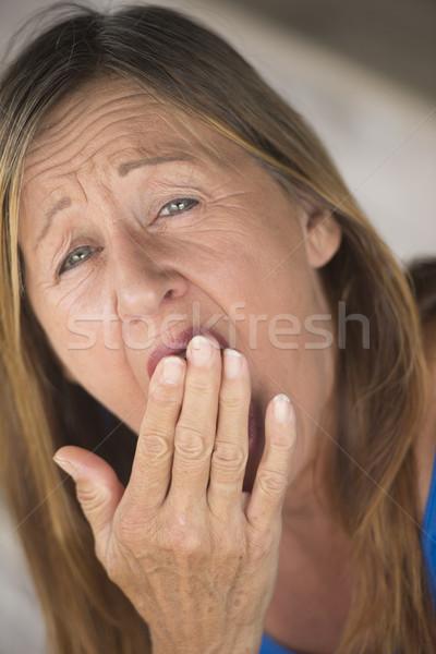 Woman yawning tired sleepy portrait Stock photo © roboriginal