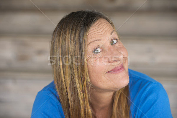 Joyful friendly mature woman portrait Stock photo © roboriginal