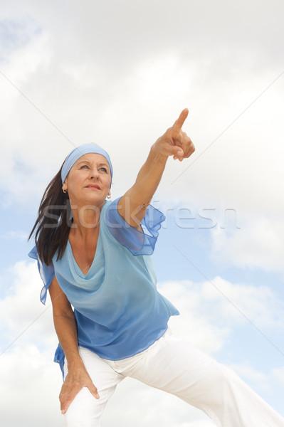 Determinado mujer madura aire libre retrato hermosa mirando Foto stock © roboriginal