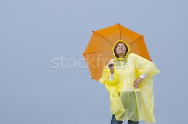 女性 雨 肖像 成熟した女性 立って 着用 ストックフォト © roboriginal
