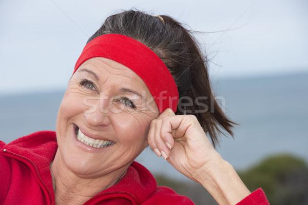 フィット 健康 スポーティー 成熟した女性 肖像 美しい ストックフォト © roboriginal