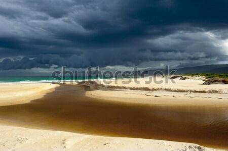Hava durumu fırtına bulut oluşum okyanus Stok fotoğraf © roboriginal