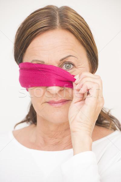 1 眼 目隠し 成熟した女性 肖像 魅力的な ストックフォト © roboriginal