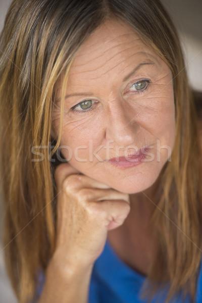 Atractivo solitario retrato mujer madura Foto stock © roboriginal