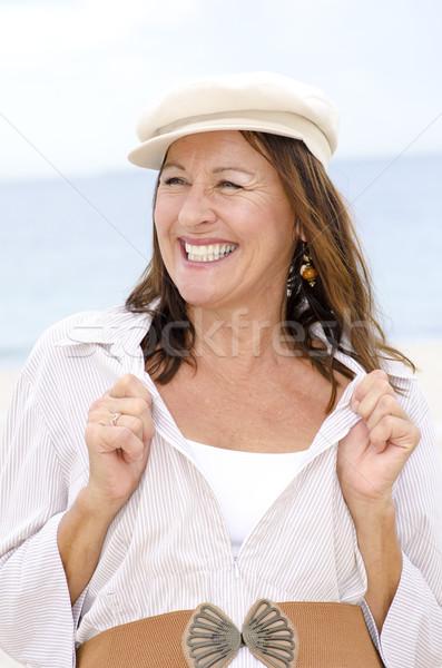 幸せ シニア 女性 孤立した 屋外 肖像 ストックフォト © roboriginal