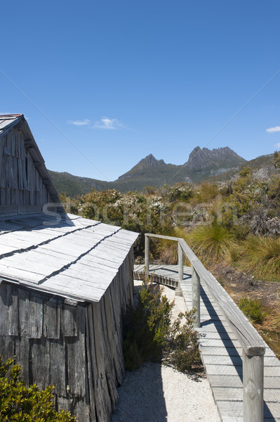 Historic Hut at Cradle Mountain Tasmania Stock photo © roboriginal