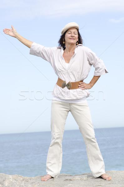 成熟した女性 海 肖像 魅力的な ストックフォト © roboriginal