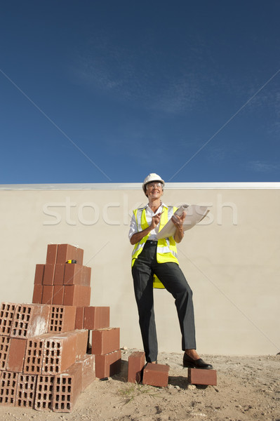 Architect construction site Stock photo © roboriginal