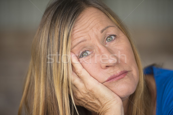 Portrait sad lonely depressed woman Stock photo © roboriginal