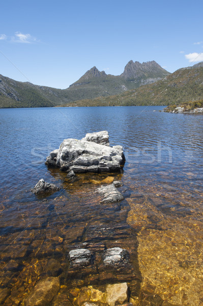 Dove Lake in Cradle Mountain National Park  Tasmania Stock photo © roboriginal