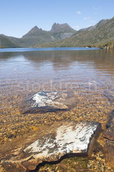 Kołyska góry tasmania jezioro piękna krajobraz Zdjęcia stock © roboriginal