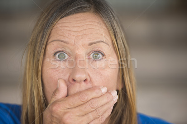 Shocked anxious upset woman portrait Stock photo © roboriginal