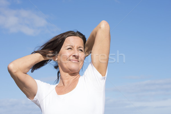 Fit healthy friendly mature retired woman outdoor Stock photo © roboriginal