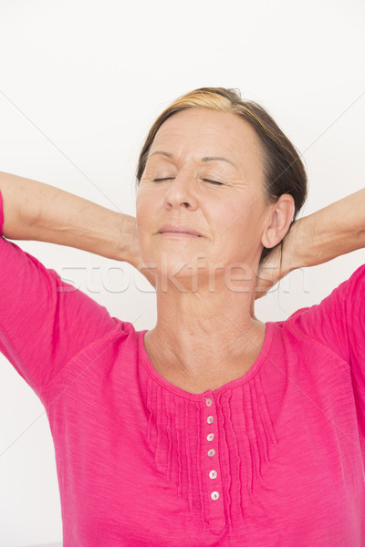 Laid back relaxed woman closed eyes Stock photo © roboriginal